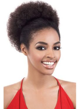 BESHE SYNTHETIC PONYTAIL - CURLABLE AFRO 5