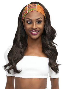 Janet Collection Premium Synthetic Crescent Band DESI Wig
