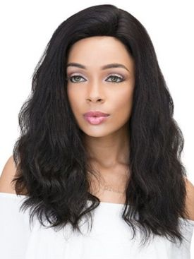 Janet Collection 100% Human Hair 2x6 Deep Part Lace Wig - NATURAL