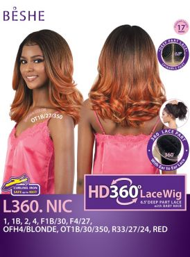 Beshe Natural Texture 360 HD Deep Part Lace Wig - L360.NIC