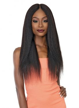 Janet Collection 100% Remy Human Hair Deep Part HD Lace Wig - PERM YAKY