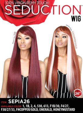 Beshe Seduction Synthetic Virgin Remy Touch Wig - SEPIA 26