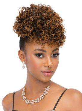 Janet Collection Playful Pineapple Ponytail - SPRINGY