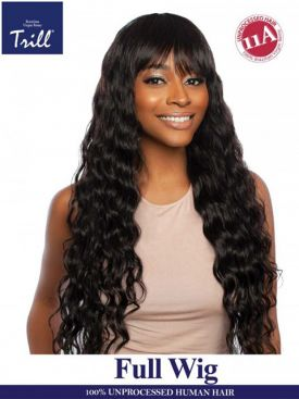 Mane Concept Trill 11A Virgin Remy Human Hair Full Wig - LOOSE BODY FULL BANG 32