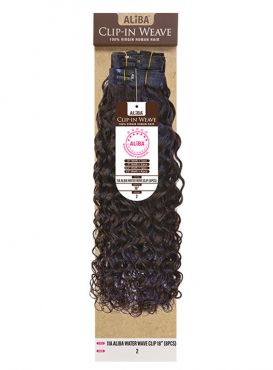 Janet Collection 100% Virgin Human Hair 11A Aliba WATER WAVE Clip-In Weave 8pc